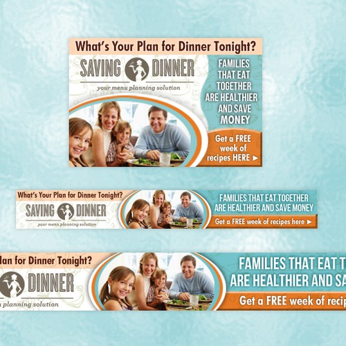 Saving Dinner banner ads