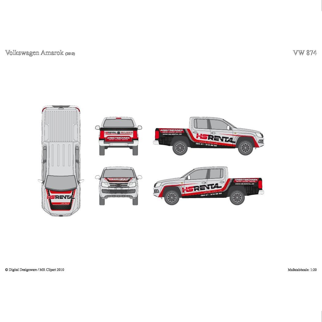 HS RENTAL needs eye catching wrap for Ford Transit & VW Amarok