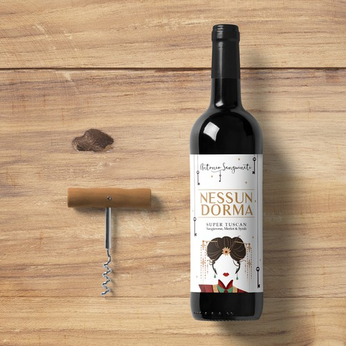Label for Nessun Dorma Wine