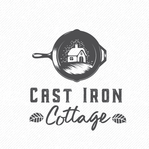 "logo for ""cast iron cottage"""