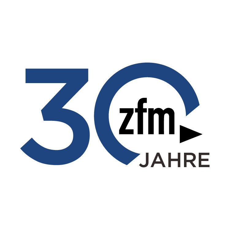 We need a variation of our logo for our 30th company anniversary: 30 Jahre zfm