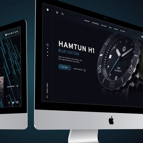 Hamtun Watches Website UI Concept