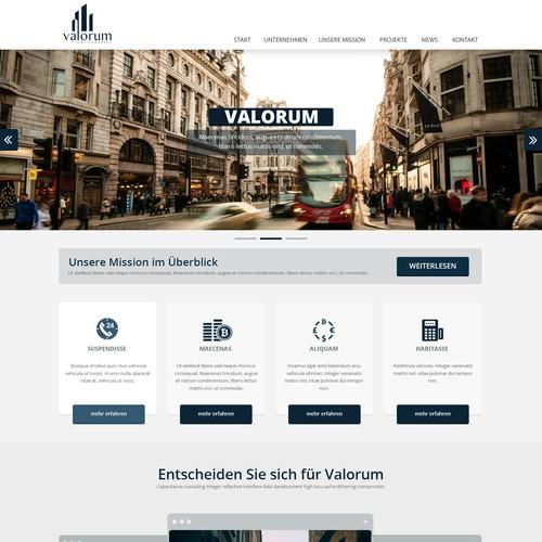 Easy Job als Einstieg für eine langfristige Geschäftsbeziehung. Web design for a real estate company!