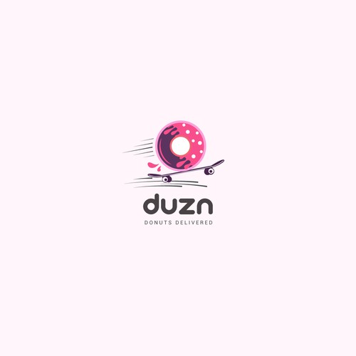 Donuts Delivery Company Logo