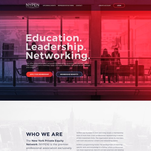 Website redesign for NYPEN