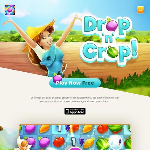 Mobile game landing page
