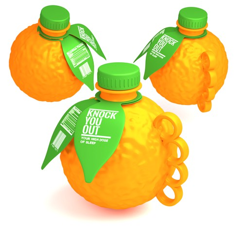 Bottle concept for fresh oranges drink