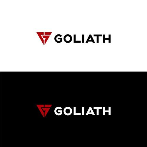 Gym Tech logo design for GOLIATH