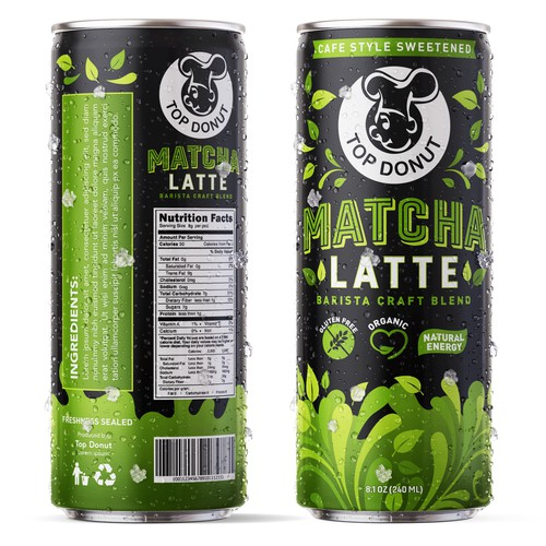 Packagaing Matcha Latte by TOP DONUT