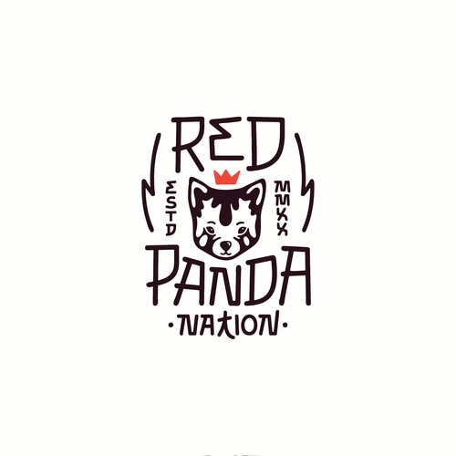 Red Panda Nation Logo Design