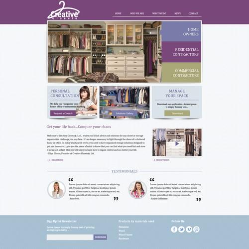 IdeaOverTen, LLC -agency for CreativeClosets needs a new website design