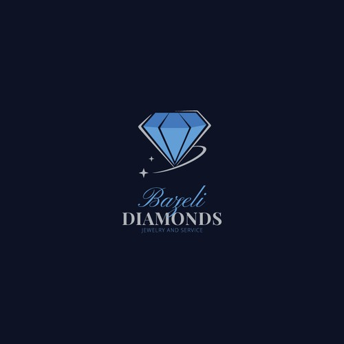 retro logo concept for Bazeli Diamonds