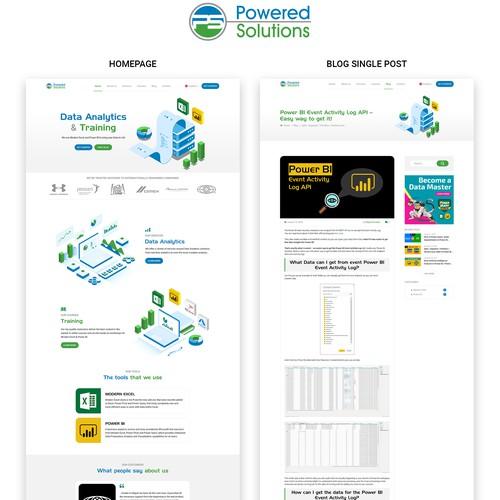 Redesign Website for Power Solutions - Runner up