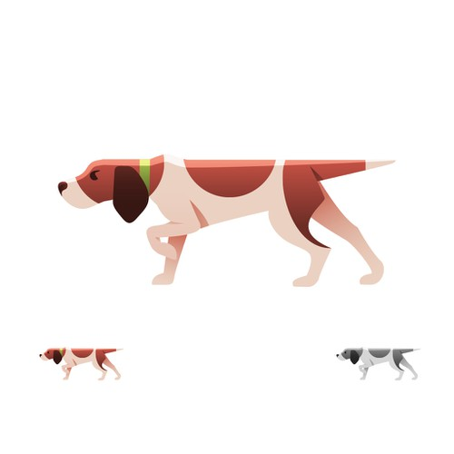 Stylized dog illustration