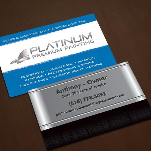 Business card for Platinum Premium Painting