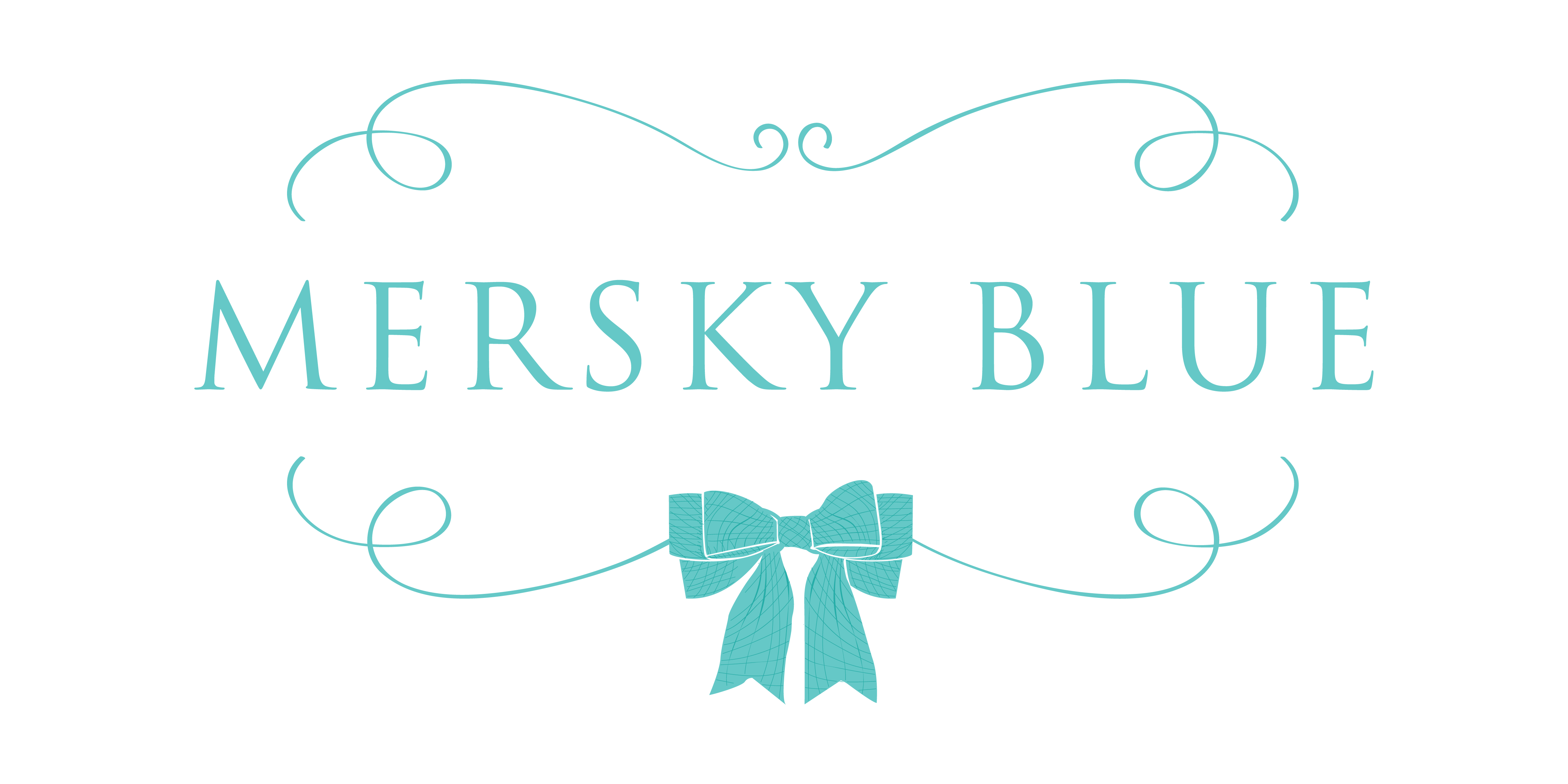 Design a sophisticated and vintage-inspired logo for Mersky Blue, curated gifts from the heart