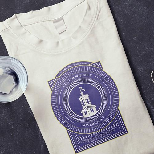 "Concept t-shirt for ""Centre for self governance"""