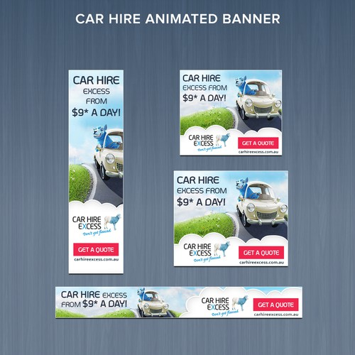 Original Design for Car Hire Excess