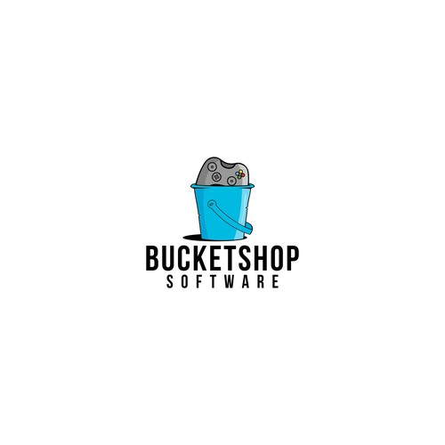 Playful logo for Bucketshop Software