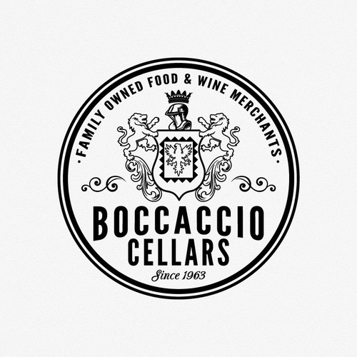 Create a new logo for Boccaccio Cellars