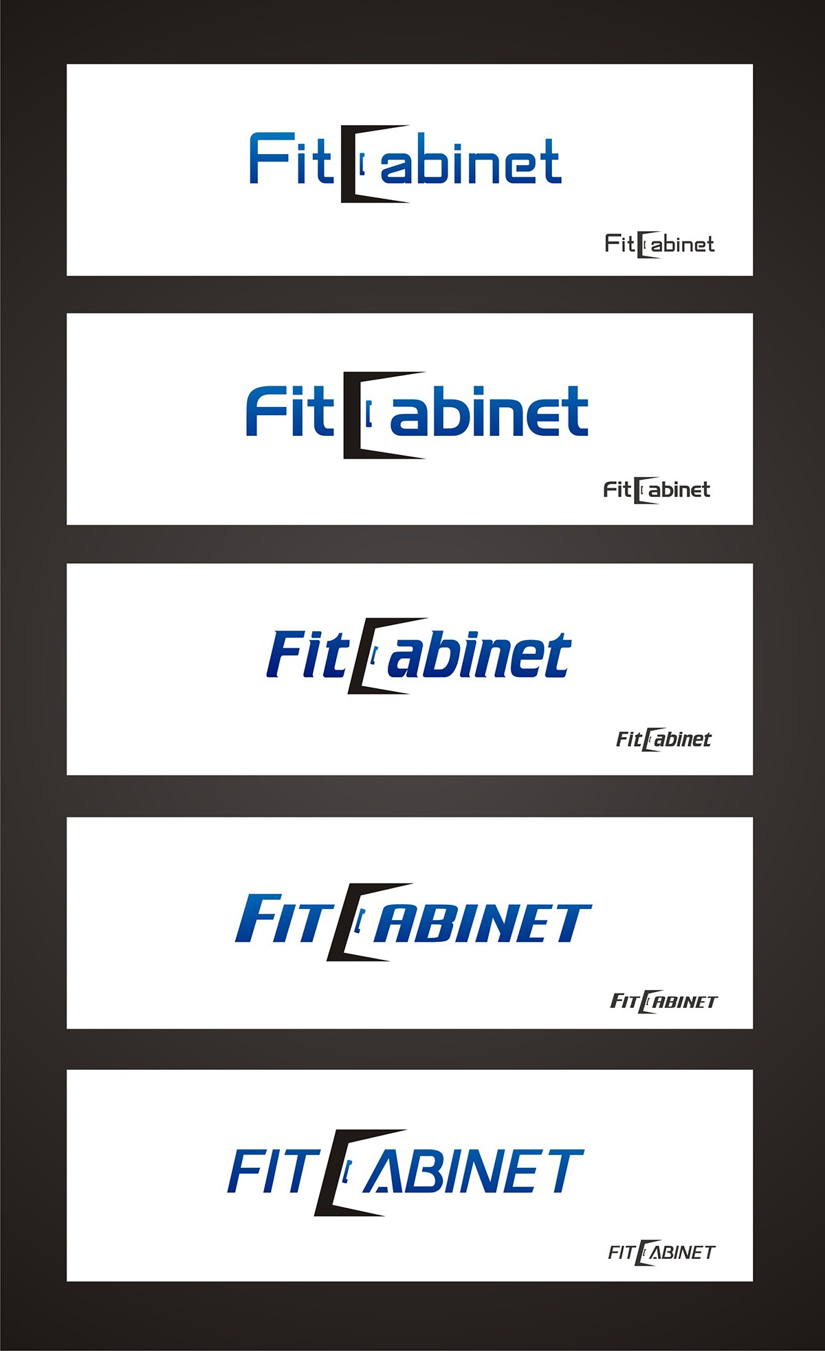 Create the next logo for FitCabinet