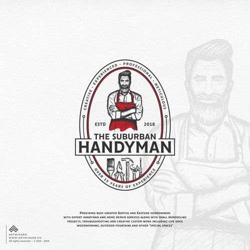Hipster Logo for Handyman Business
