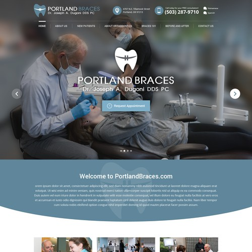Visual Design for Modern Orthodontist Office