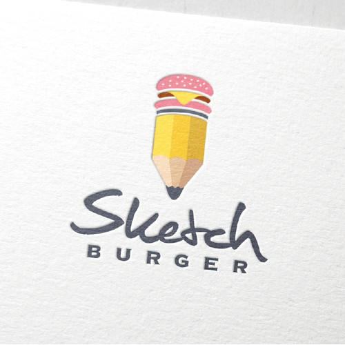 Logo design for burger restaurant.