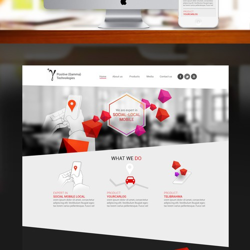 landing page for Positive Gamma Technologies