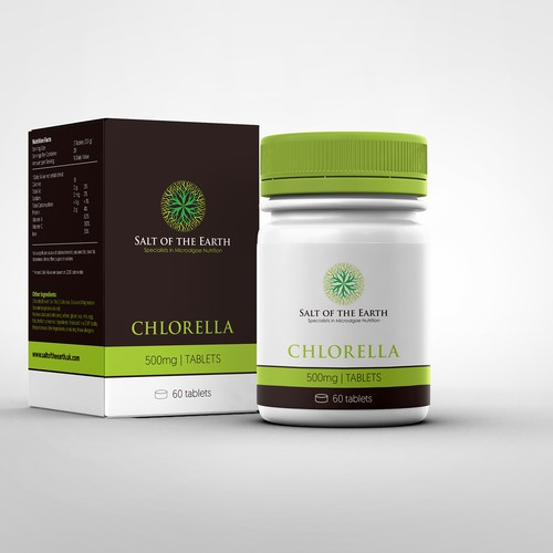 Packaging for a new microalgae health food product
