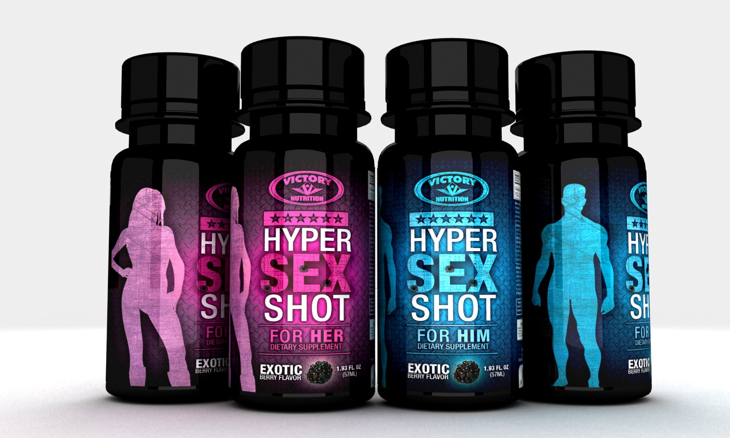 Victory Nutrition HyperSexShot needs a new print or packaging design