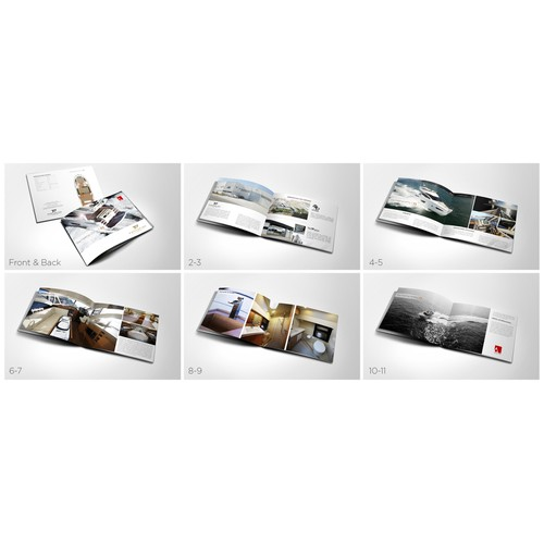 Create the next brochure design for Portofino Yachts