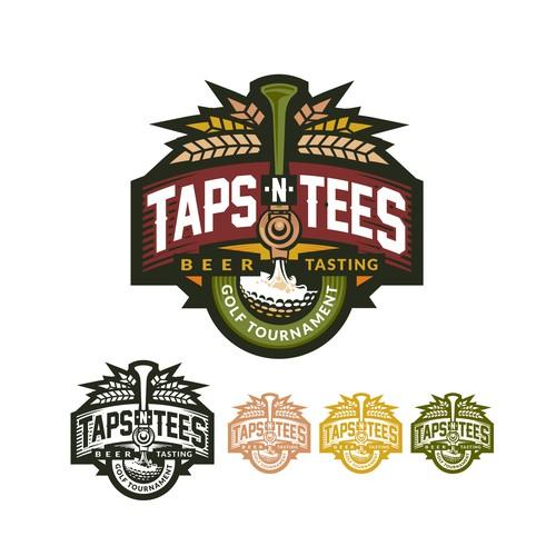Taps-N-Tees Beer Tasting Golf Tournament Logo