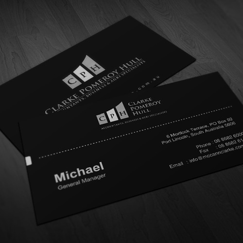 Create the next logo and business card for CPH Accounting
