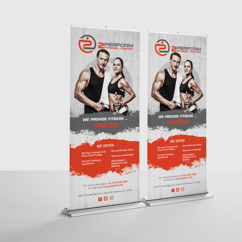 Banner design for boutique fitness center