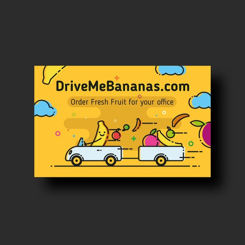 Takeaway card for a fruit delivery company