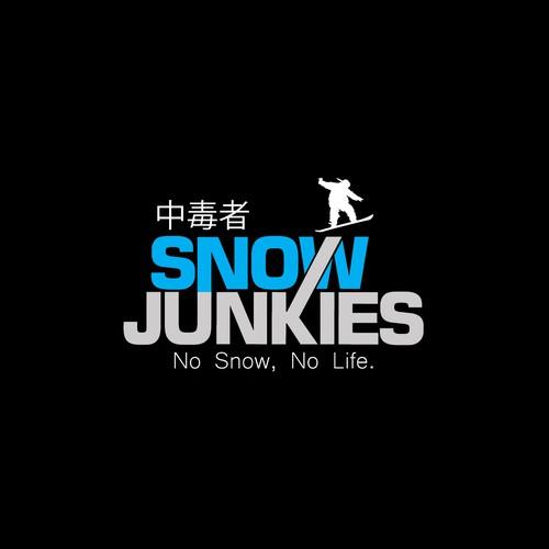 logo design for snow junkies