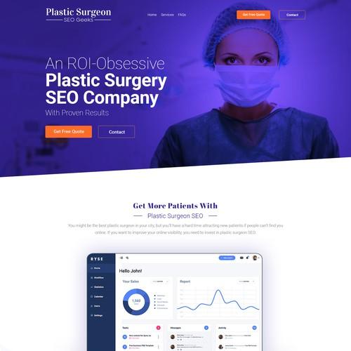 Plastic Surgeon SEO Company Landing Page