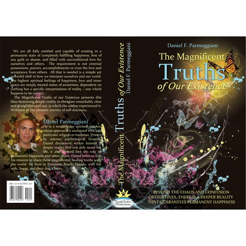 Create a magnificent design for my spiritual hardcover book