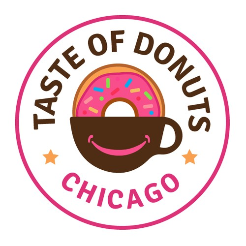 Donuts and cafe shop logo design.