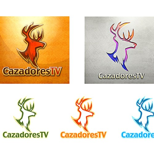 Cazadores TV winning logo design