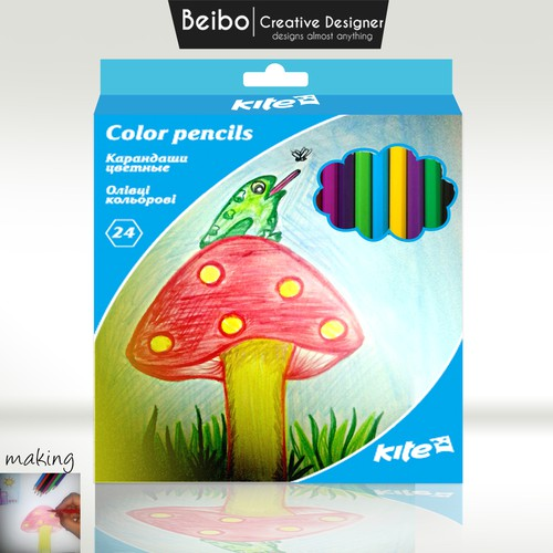 packaging for children's colored pencils entry