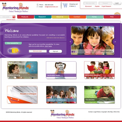 Redesign website for educational publisher