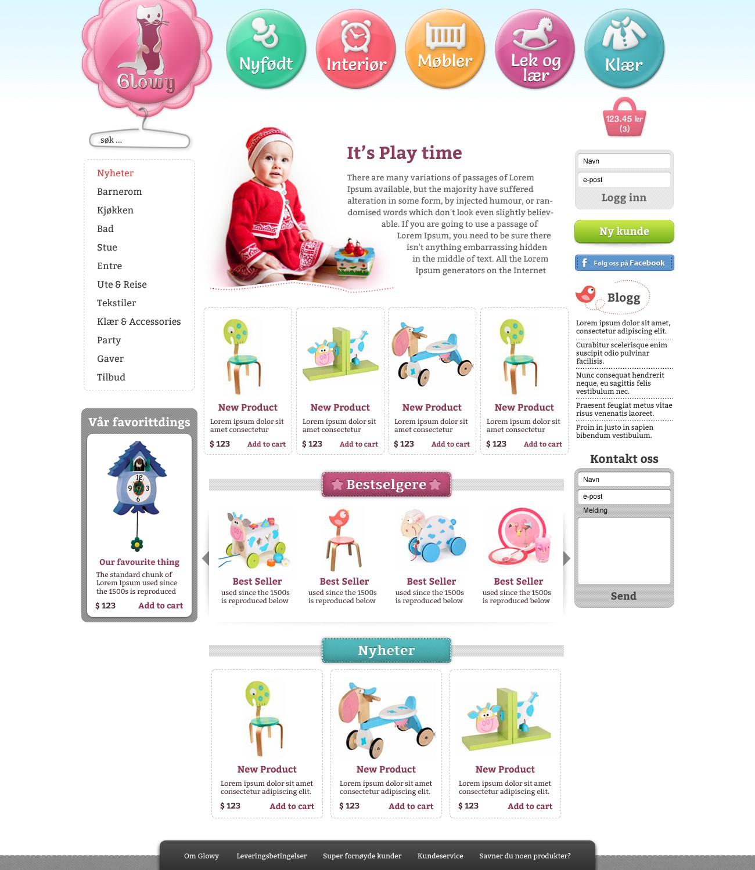 Createnew website design for Glowy