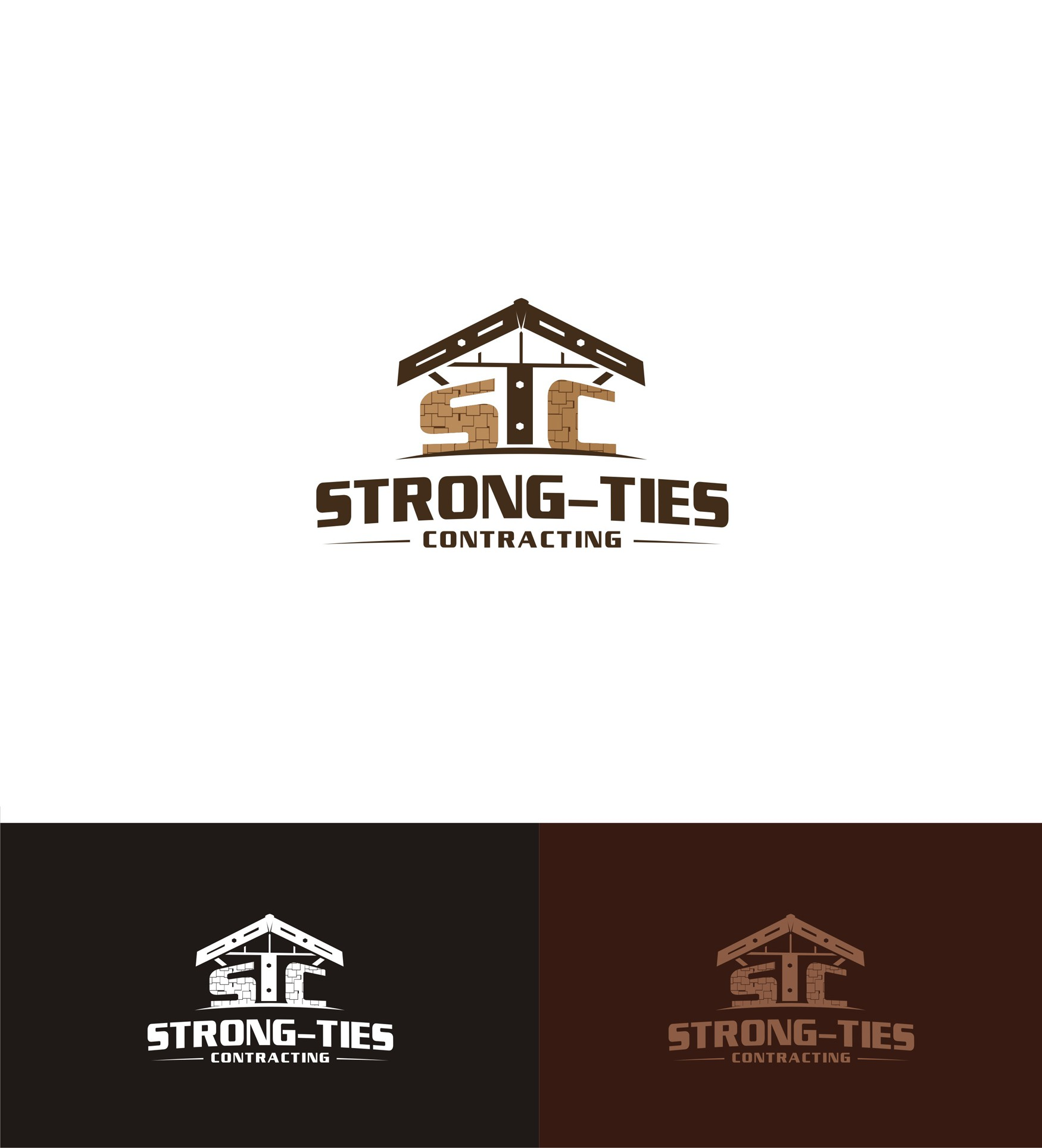Create a unique logo and website for a small contracting company