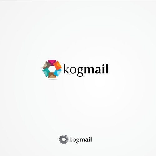 Clever designers wanted to create logo for a new email client