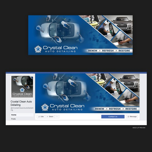 Facebook cover for Auto Detailing Company