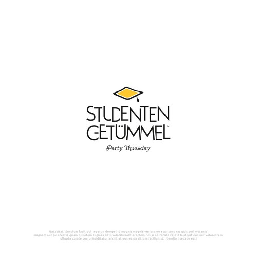 "Logo Design ""Studenten Getümmel"" Party Tuesday"