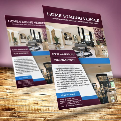 Create a Staging Flyer to Attract Builders and Realtors!!!