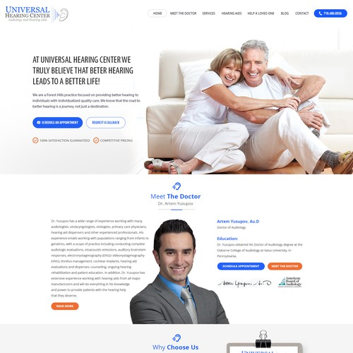Medical Website for audiology doctor